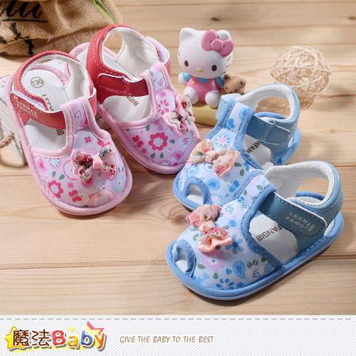 車 魔法Baby~寶寶涼鞋~ 專櫃正品女寶寶外出鞋~嬰兒鞋~sh3911