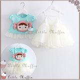 蓬蓬裙 兩件式洋裝 娃娃頭蕾絲背心裙+上衣 套裝 SUM196