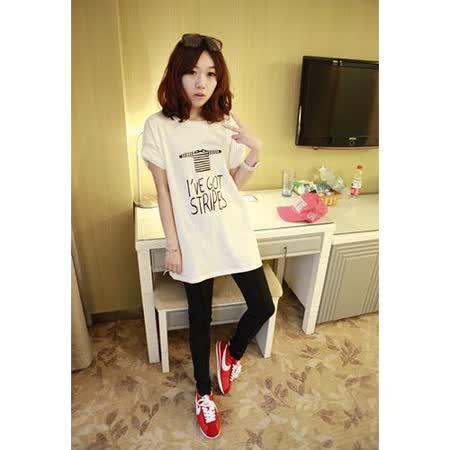 【韓系女衫 中大尺碼】 寬鬆字母簡約百搭短袖T恤