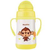 MoliFun魔力坊 不鏽鋼真空兒童吸管杯/學習杯260ml-俏皮猴