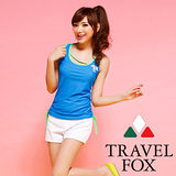 【TRAVELFOX 旅狐】運動風長版三件式泳衣C14705