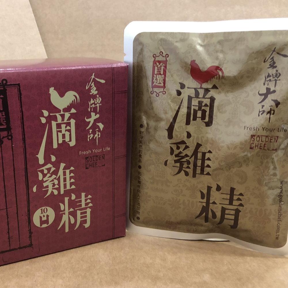 金牌大師 滴雞湯(滴雞精)10包+紅棗銀耳湯10包