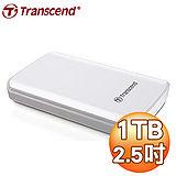 Transcend 創見 SJ25D3 1TB USB3.0 2.5吋 白曜鏡面防震硬碟