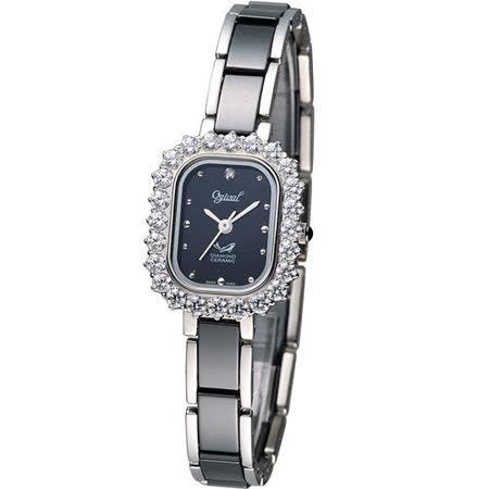 Ogival 愛其華薔薇陶瓷真鑽腕錶 320-03DLS