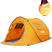 PUSH! 登山戶外用品 1秒丟雙門雙窗雙人四季防暴雨帳篷