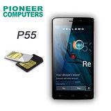 Pioneer computer  P55 雙卡5.5吋智慧型手機(簡配)◆首購贈(原電+座充+保貼+全景窗翻頁皮套)◆聯強代理