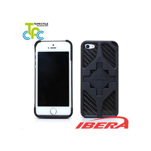 IBERA 智慧型iPhone5/5S專用手機架(黑)