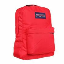 JanSport 2014時尚方邊簡緻探險紅色後背包【預購】