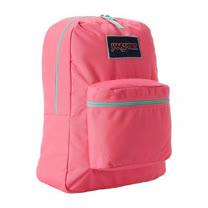 JanSport 2014時尚方邊簡緻粉紅色後背包【預購】