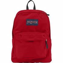 JanSport 2014時尚方邊簡緻紅色後背包【預購】