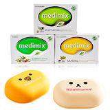 MEDIMIX 印度皇室藥草浴美肌皂 125g*12入組 三款混搭任選 加贈造型香皂盒