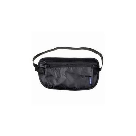 【iSFun】旅行專用*透氣網狀小腰包/黑