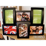 TROMSO相框-立體半弧形6框/黑色