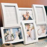 TROMSO相框-立體半弧形6框/白色