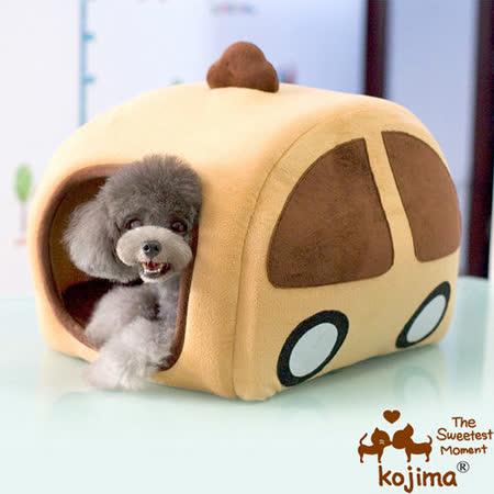 日本KOJIMA 汽車造型貓狗窩/帳篷式 寵物的小空間 44*38*36