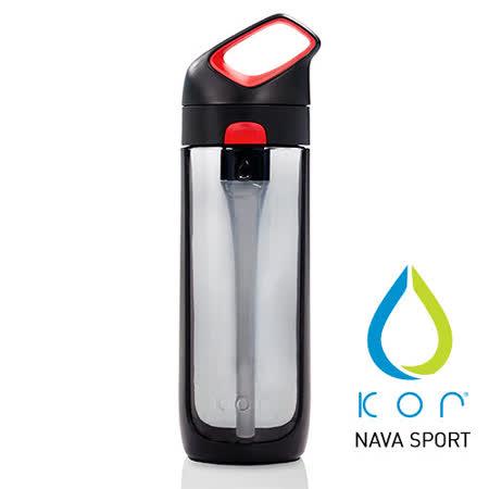 【美國KORwater】KOR Nava Sport運動水瓶-黑紅/650ml