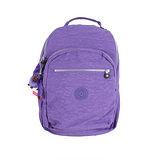 【Kipling】比利時品牌 15吋電腦後背包 靚亮紫 K-374-5015-647
