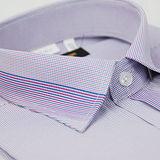 【金安德森】紫色細格紋變化領窄版短袖襯衫