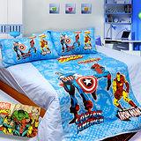《復仇者聯盟》雙人四件式涼被床包組台灣製造