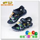 [GP]快樂童鞋-鞋面多變龜兔圖案涼鞋-G9176B-20(藍色)共有二色