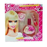 Barbie 時尚芭比 淡香水禮盒-彩妝版 (淡香水30ml/唇蜜7ml/水鑽貼紙*1)