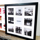 TROMSO-風格主義實木9入相框/黑色