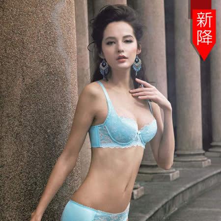 【曼黛瑪璉】Hibra大波高脅舒適內衣  F-G罩杯(糖果藍)