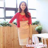 預購【CHACO韓國】清新感亮眼粉彩配色無袖連身洋裝CLEB-O-28 (橘色M/L)