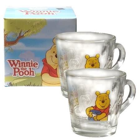 Disney小熊維尼玻璃馬克杯-360cc-二入組