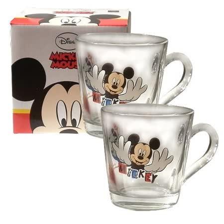 Disney經典米奇玻璃馬克杯-360cc-二入組