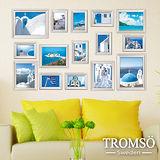 TROMSO古典相框牆-15框組/白色