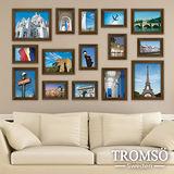TROMSO古典相框牆-15框組/咖啡色