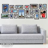 TROMSO時尚相框牆-18框組/黑色
