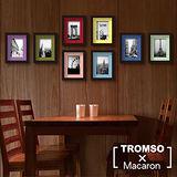 TROMSO馬卡龍相框牆-8框組/黑色