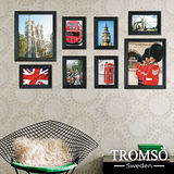TROMSO相框牆-古典8框組/黑色/英國圖
