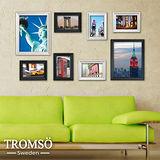 TROMSO相框牆-古典8框組/黑白混色/紐約圖