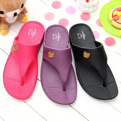 【童鞋城堡】拉拉熊厚底超輕量夾腳拖鞋KM2689