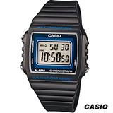 CASIO 卡西歐繽紛大螢幕方形電子錶 W-215H-8A