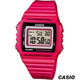 CASIO 卡西歐繽紛大螢幕方形電子錶 W-215H-4A