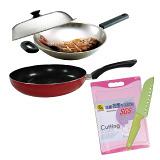 【鍋寶】煎大師經典雙鍋組加精廚刀抗菌砧板組EO-SG636FP28W802C24P