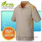 【維特 FIT】男新款 COOLMAX吸排抗UV POLO衫/ FS1103 卡其色