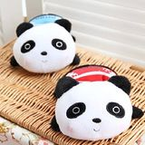 【PS Mall】可愛圓仔黑白熊貓手機座卡通布娃娃 玩偶公仔_2入 (J605)