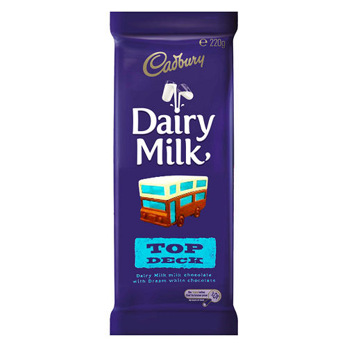 Cadbury 吉百利夢幻雙享巧克力^(白巧克力牛奶巧克力^)220g