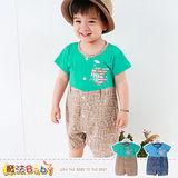 魔法Baby~連身衣~百貨專櫃正品純棉包屁衣~嬰兒服~k35179
