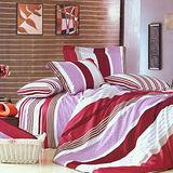 FOCA《都是夢幻》加大100%精梳棉四件式舖棉兩用被床包組