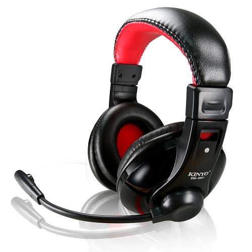 KINYO 超重低音立體聲耳機麥克風 EM~3651