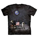 『摩達客』(預購)美國進口【The Mountain】自然純棉系列 登陸月球 T恤