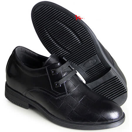 (201405新品)春秋系列10044格紋統包鞋6.5cm增高GOG高哥隱形增高鞋內增高鞋