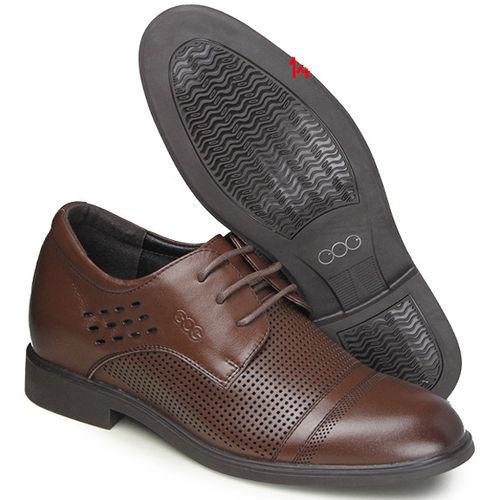 (201405新品)夏冬系列01419棕擦二節頭涼鞋6.5cm增高GOG高哥隱形增高鞋內增高鞋