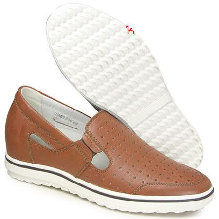 (201405新品)夏冬系列96417亞面透氣涼鞋6.0cm增高GOG高哥隱形增高鞋內增高鞋